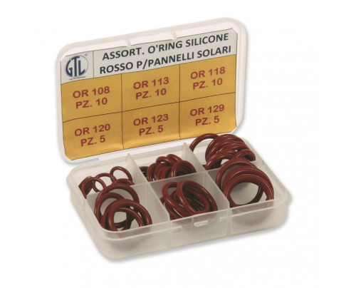 Anelli o'ring in silicone rosso